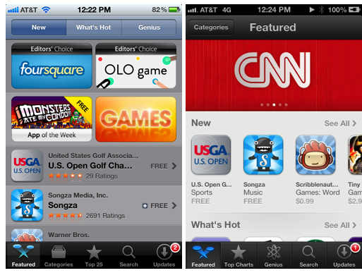 App Store - Old vs. New