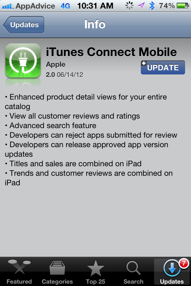 Apple Releases iTunes Connect App Update To Developers