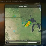 Weather Live version 1.6 (iPad 2) - Radar Map (Landscape)