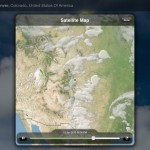 Weather Live version 1.6 (iPad 2) - Satellite Map (Landscape)