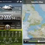 Weather Live version 1.6 (iPhone 4) - Main and Satellite Map