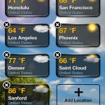 Weather+ version 2.0 (iPhone 4) - Location Manager