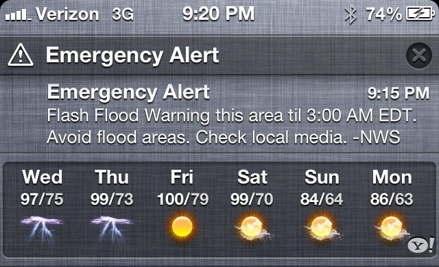 Emergency Alert in iOS 6