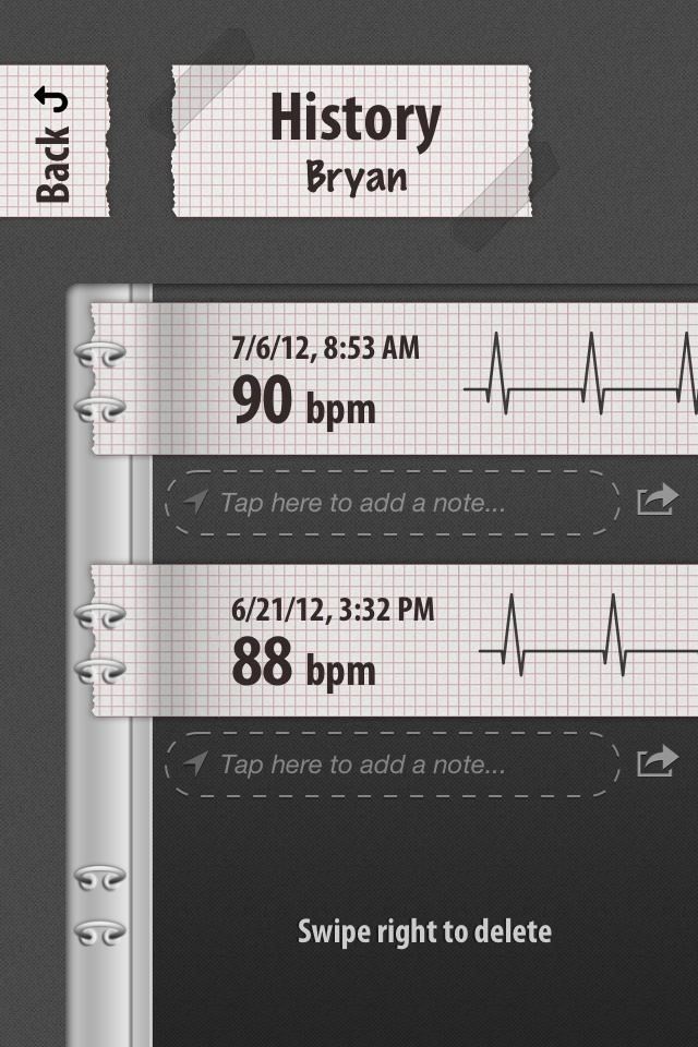 Cardiograph - Easy To Share Your History