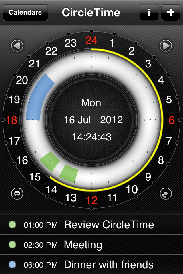 CircleTime - Events view