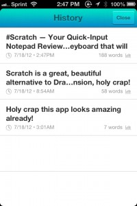 Scratch — Your Quick-Input Notepad by Karbon screenshot