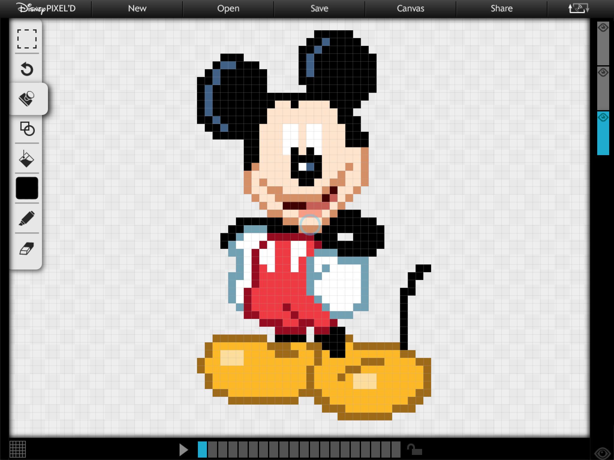 Mickey Mouse Pixel Art