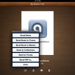 Book Writer version 1.4 (iPad 2) - Export