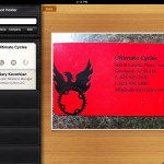 Business Card Reader HD version 2.2 (iPad 2) - Card Holder (Contact Image)