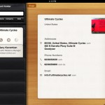Business Card Reader HD version 2.2 (iPad 2) - Card Holder (Contact Details)