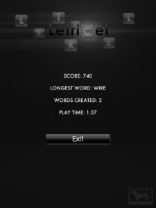 Letricel (iPad 2) - Results
