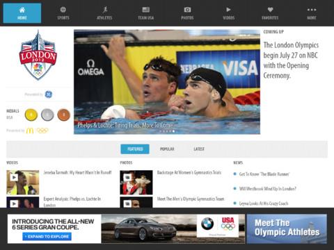 NBC Olympics - iPad