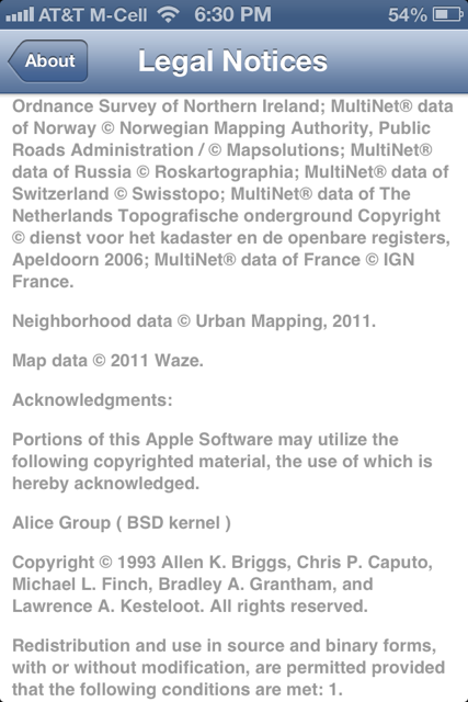 Waze - iOS 6 Maps Integration