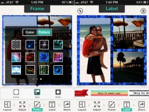 Photo Frame and FX Pro version 2.1 (iPhone 4) - Screenshots 1 and 2