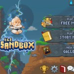 The Sandbox version 1.04 (iPad 2) - Main Menu