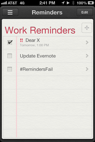 Dear Reminders