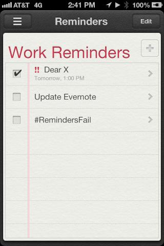 Dear Reminders