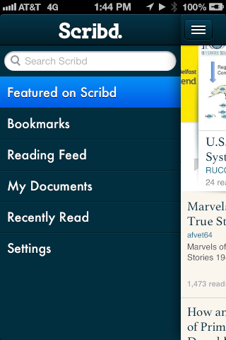 Scribd for iPhone - Confusing choices