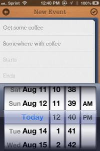 Today Calendar by Splinter Software screenshot