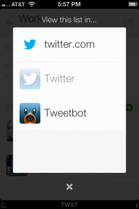 twst  the Twitter lists app by Indiepants Apps screenshot