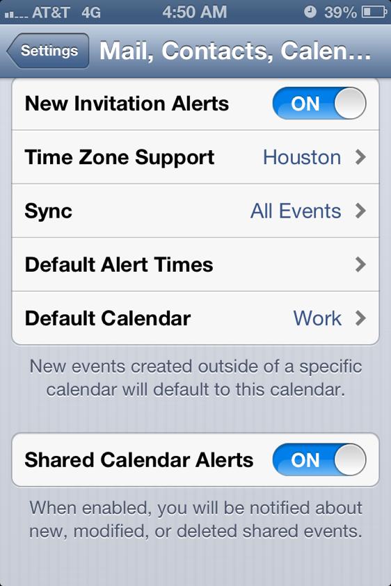 Shared Calendar Alerts