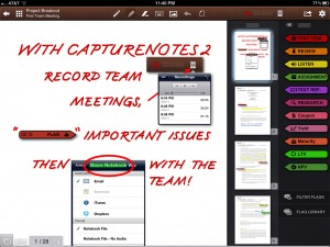 CaptureNotes version 2.0 - Audio Listening and Export