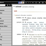 English-Spanish Unabridged Dictionary version 2.4 (iPad 2) - Word