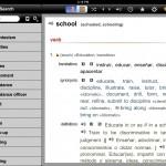 English-Spanish Unabridged Dictionary version 2.4 (iPad 2) - Word