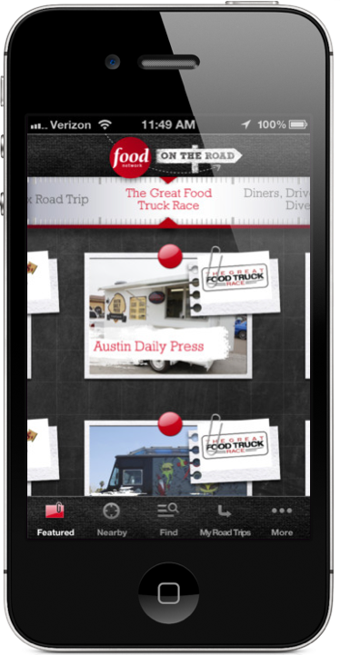 The Food Network On The Road, iPhone