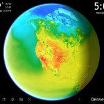 Living Earth HD version 2.0 (iPad 2) - Current Temp Map