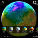 Living Earth HD version 2.0 (iPad 2) - Mean Temp Forecast Map
