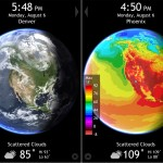 Living Earth HD version 2.0 (iPhone 4) - Clouds and Max Temp Forecast Maps