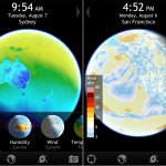 Living Earth HD version 2.0 (iPhone 4) - Current Temp and Wind Maps