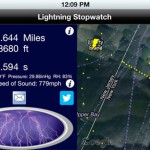 PocketWeather version 4.0 (iPhone) - Lightning Stopwatch