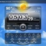 Weather Live version 1.9 (iPad 2) - Widget (Full)