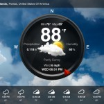 Weather Live version 1.9 (iPad 2) - Circle View
