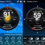 Weather Live version 1.9 (iPhone 4) - Circle View