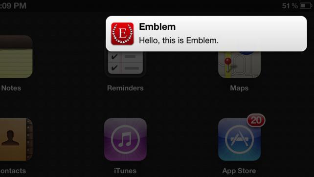 Emblem: OS X-Inspired Notifications For Your Jailbroken iPad