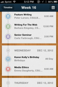 Erudio: A Student Organizer for iPhone by Monospace Ltd. screenshot