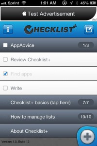 Checklist+ by Dynamic App Design screenshot