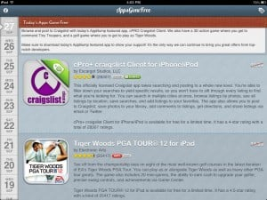 AppsGoneFree version 2.0.1 (iPad 2) - Main