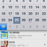 iTV Shows 2 version 2.1.1 (iPhone 5) - Calendar
