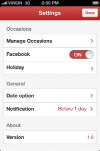 Save the Date - anniversary reminder by OPONITI Inc screenshot