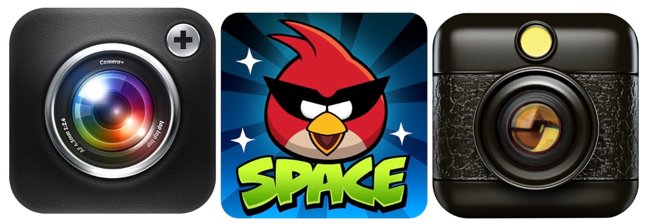 Not iPhone Compatible: Camera+, Angry Birds Space, Hipstamatic