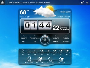Weather Live version 1.9 (iPad 2) - Widget (Full) View