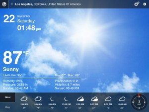 Weather Live version 1.9 (iPad 2) - Tex-Only View