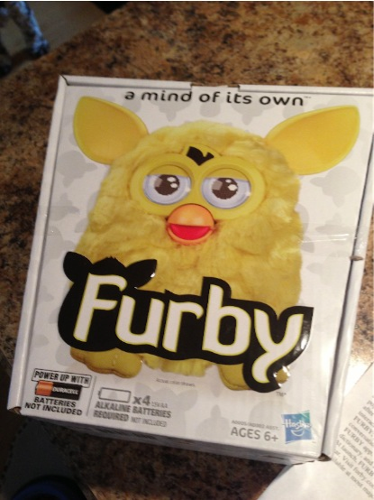 Furby's box before its demise