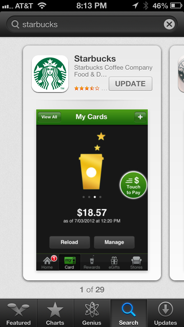 how to use starbucks rewards on iphone