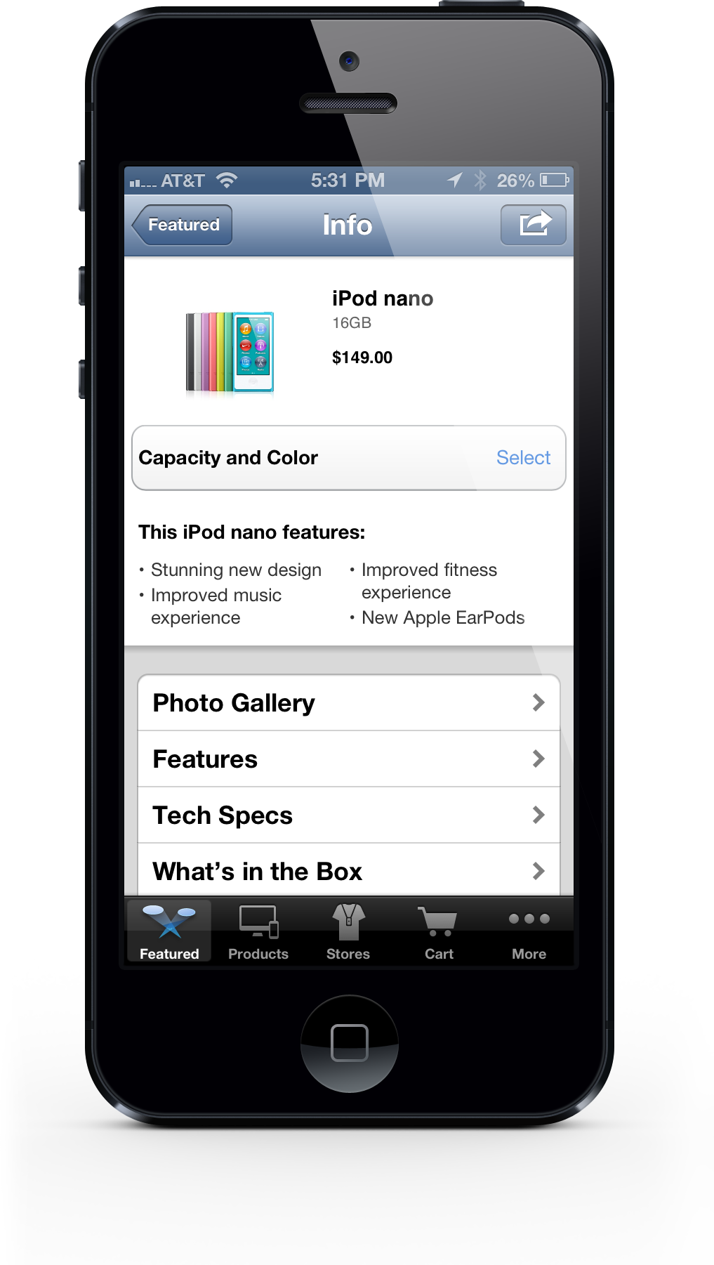 Apple Store App - iPhone 5