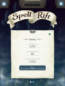 Spell Rift for iPad by Kieffer Bros. screenshot